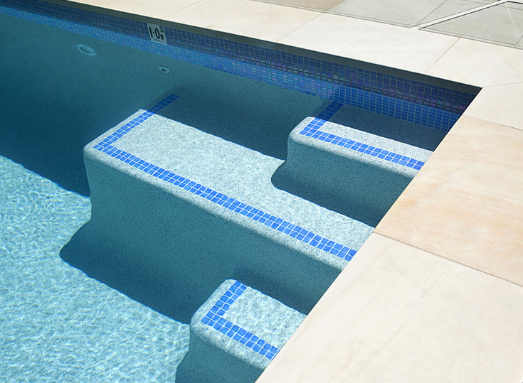 New pool plaster & pebble tec